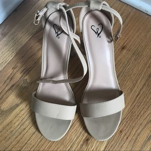 New Nude Strappy heels